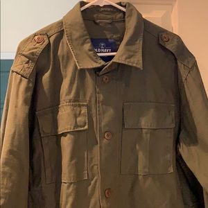 Men's Military Style Button up Shirt/Jacket